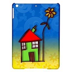 Colorful Illustration Of A Doodle House iPad Air Hardshell Cases