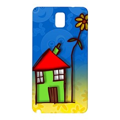 Colorful Illustration Of A Doodle House Samsung Galaxy Note 3 N9005 Hardshell Back Case