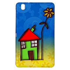 Colorful Illustration Of A Doodle House Samsung Galaxy Tab Pro 8.4 Hardshell Case