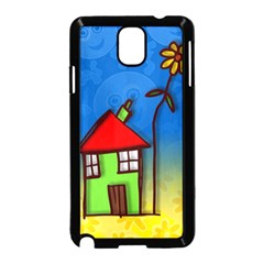 Colorful Illustration Of A Doodle House Samsung Galaxy Note 3 Neo Hardshell Case (black)