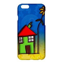 Colorful Illustration Of A Doodle House Apple iPhone 6 Plus/6S Plus Hardshell Case
