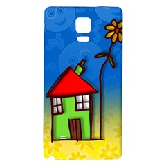 Colorful Illustration Of A Doodle House Galaxy Note 4 Back Case