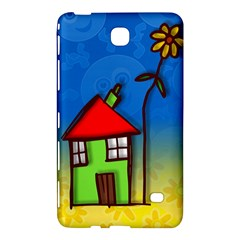 Colorful Illustration Of A Doodle House Samsung Galaxy Tab 4 (8 ) Hardshell Case