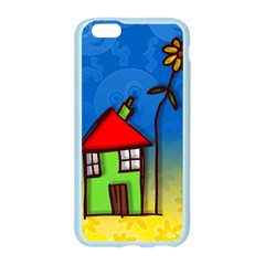 Colorful Illustration Of A Doodle House Apple Seamless iPhone 6/6S Case (Color)