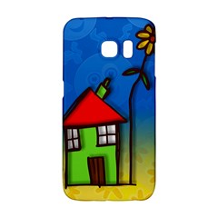 Colorful Illustration Of A Doodle House Galaxy S6 Edge