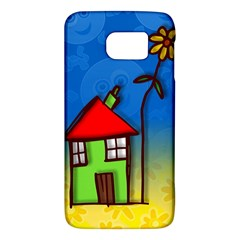 Colorful Illustration Of A Doodle House Galaxy S6