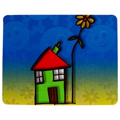 Colorful Illustration Of A Doodle House Jigsaw Puzzle Photo Stand (Rectangular)