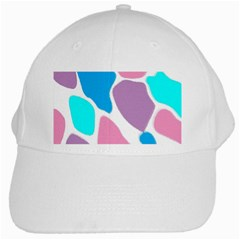 Baby Pink Girl Party Pattern Colorful Background Art Digital White Cap