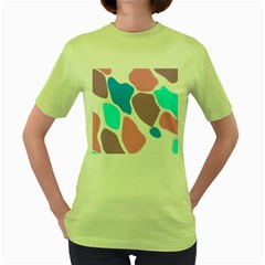 Baby Pink Girl Party Pattern Colorful Background Art Digital Women s Green T Shirt