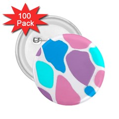 Baby Pink Girl Party Pattern Colorful Background Art Digital 2.25  Buttons (100 pack)
