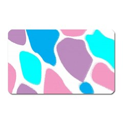 Baby Pink Girl Party Pattern Colorful Background Art Digital Magnet (rectangular)