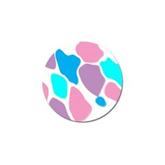 Baby Pink Girl Party Pattern Colorful Background Art Digital Golf Ball Marker (4 pack)