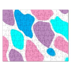Baby Pink Girl Party Pattern Colorful Background Art Digital Rectangular Jigsaw Puzzl