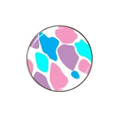 Baby Pink Girl Party Pattern Colorful Background Art Digital Hat Clip Ball Marker (4 pack)