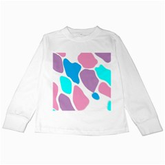 Baby Pink Girl Party Pattern Colorful Background Art Digital Kids Long Sleeve T-Shirts