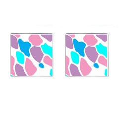 Baby Pink Girl Party Pattern Colorful Background Art Digital Cufflinks (square)