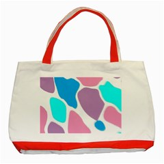 Baby Pink Girl Party Pattern Colorful Background Art Digital Classic Tote Bag (Red)