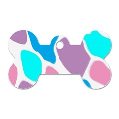 Baby Pink Girl Party Pattern Colorful Background Art Digital Dog Tag Bone (one Side)