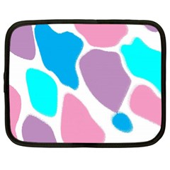 Baby Pink Girl Party Pattern Colorful Background Art Digital Netbook Case (Large)