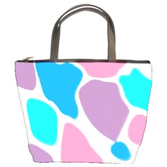 Baby Pink Girl Party Pattern Colorful Background Art Digital Bucket Bags