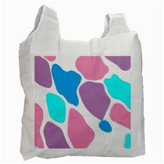 Baby Pink Girl Party Pattern Colorful Background Art Digital Recycle Bag (one Side)