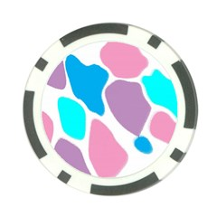 Baby Pink Girl Party Pattern Colorful Background Art Digital Poker Chip Card Guard (10 pack)