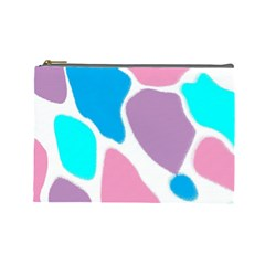 Baby Pink Girl Party Pattern Colorful Background Art Digital Cosmetic Bag (large)