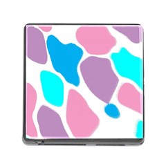 Baby Pink Girl Party Pattern Colorful Background Art Digital Memory Card Reader (Square)