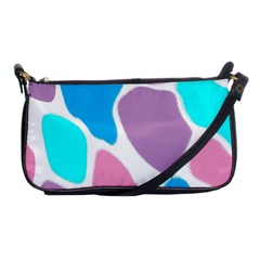 Baby Pink Girl Party Pattern Colorful Background Art Digital Shoulder Clutch Bags