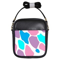 Baby Pink Girl Party Pattern Colorful Background Art Digital Girls Sling Bags