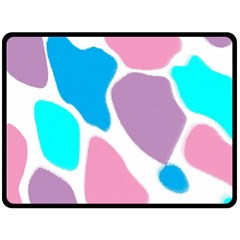 Baby Pink Girl Party Pattern Colorful Background Art Digital Fleece Blanket (Large)