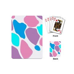 Baby Pink Girl Party Pattern Colorful Background Art Digital Playing Cards (mini)