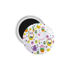 Cute Easter pattern 1.75  Magnets