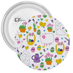 Cute Easter pattern 3  Buttons