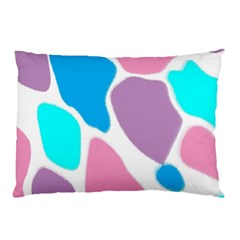Baby Pink Girl Party Pattern Colorful Background Art Digital Pillow Case (Two Sides)