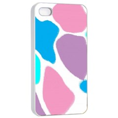 Baby Pink Girl Party Pattern Colorful Background Art Digital Apple iPhone 4/4s Seamless Case (White)