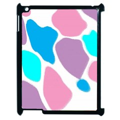 Baby Pink Girl Party Pattern Colorful Background Art Digital Apple iPad 2 Case (Black)