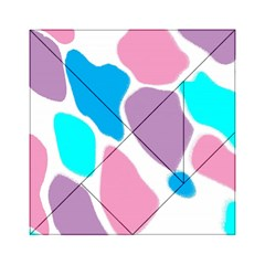 Baby Pink Girl Party Pattern Colorful Background Art Digital Acrylic Tangram Puzzle (6  X 6 )