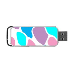 Baby Pink Girl Party Pattern Colorful Background Art Digital Portable USB Flash (Two Sides)