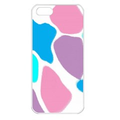 Baby Pink Girl Party Pattern Colorful Background Art Digital Apple iPhone 5 Seamless Case (White)