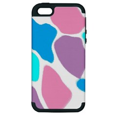 Baby Pink Girl Party Pattern Colorful Background Art Digital Apple iPhone 5 Hardshell Case (PC+Silicone)