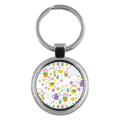 Cute Easter pattern Key Chains (Round)