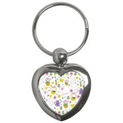 Cute Easter Pattern Key Chains (heart)