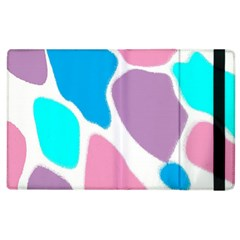 Baby Pink Girl Party Pattern Colorful Background Art Digital Apple iPad 3/4 Flip Case