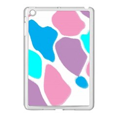 Baby Pink Girl Party Pattern Colorful Background Art Digital Apple iPad Mini Case (White)