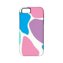 Baby Pink Girl Party Pattern Colorful Background Art Digital Apple iPhone 5 Classic Hardshell Case (PC+Silicone)