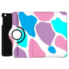 Baby Pink Girl Party Pattern Colorful Background Art Digital Apple iPad Mini Flip 360 Case