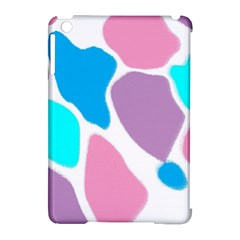 Baby Pink Girl Party Pattern Colorful Background Art Digital Apple Ipad Mini Hardshell Case (compatible With Smart Cover)
