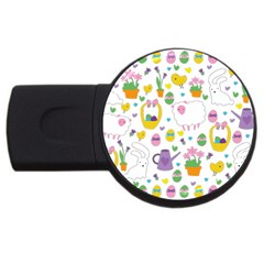 Cute Easter pattern USB Flash Drive Round (2 GB)