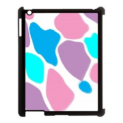 Baby Pink Girl Party Pattern Colorful Background Art Digital Apple iPad 3/4 Case (Black)